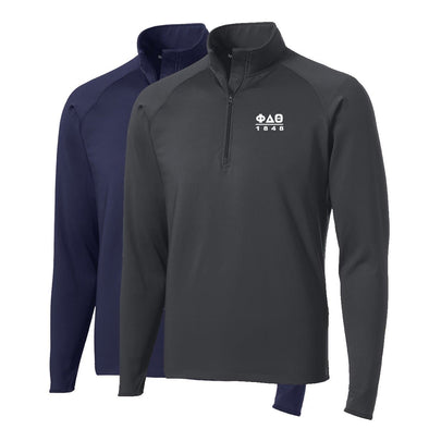 New! Phi Delt Performance Essential Quarter-Zip Pullover