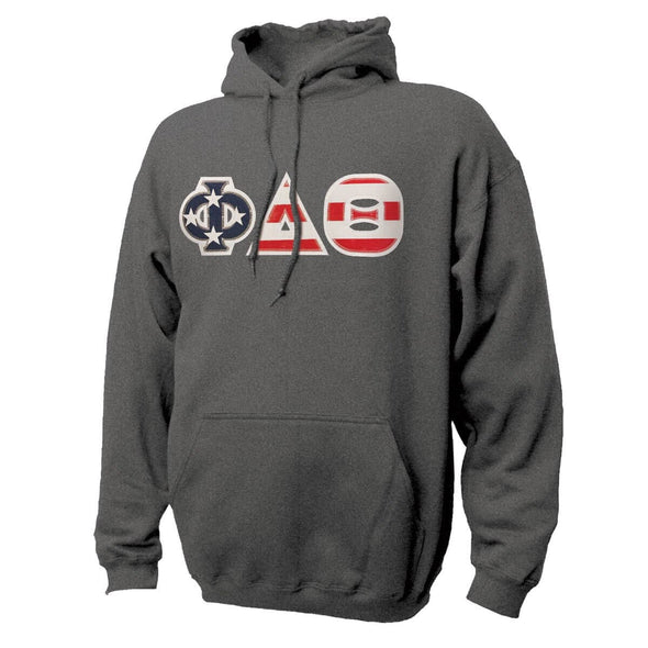 Phi Delt Stars & Stripes Sewn On Letter Hoodie