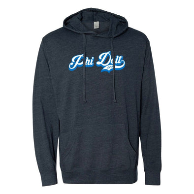 New! Phi Delt Retro Lightweight T-Shirt Hoodie