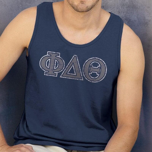 Phi Delt Navy Athletic Tank Top