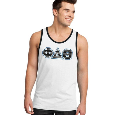 Clearance Priced! Phi Delt White & Black Tank Top