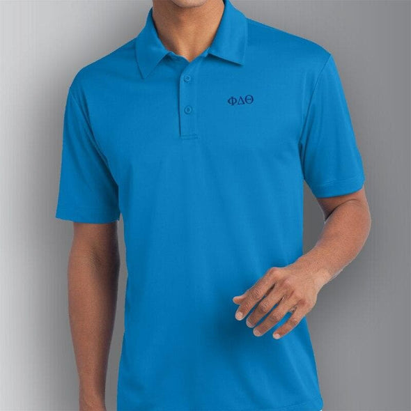 Clearance Priced! Phi Delt Blue Performance Polo