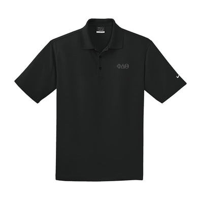 Phi Delt Black Nike Performance Polo
