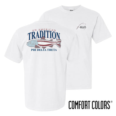 Phi Delt American Trout Comfort Colors Tee