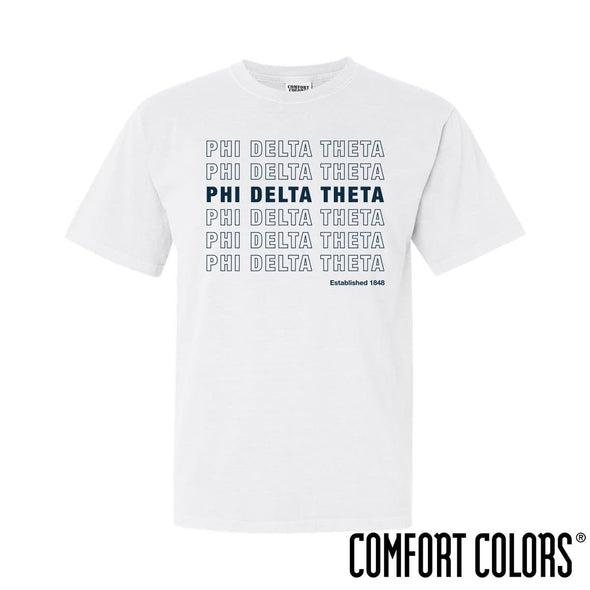 Phi Delt Comfort Colors White Thank You Bag Tee