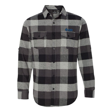 Clearance! Phi Delt Black Plaid Flannel Shirt