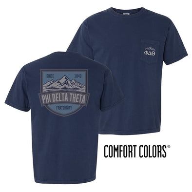 Phi Delt Comfort Colors Mountain Pocket Tee