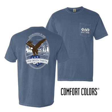 Phi Delt Vintage Blue Comfort Colors Eagle Tee