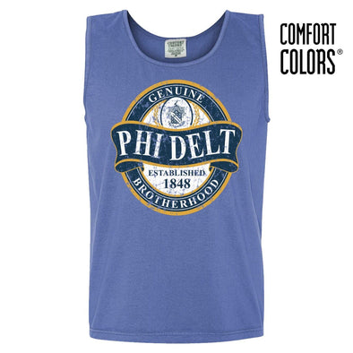 Phi Delt Faded Blue Comfort Colors Tank