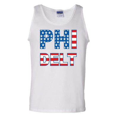 Phi Delt White USA Tank Top