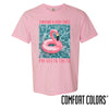 New! Phi Delt Comfort Colors Pink Short Sleeve Flamingo Tee