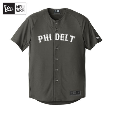 Phi Delt New Era Graphite Baseball Jersey
