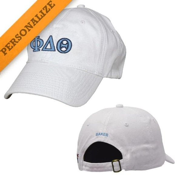 Phi Delt Personalized White Hat