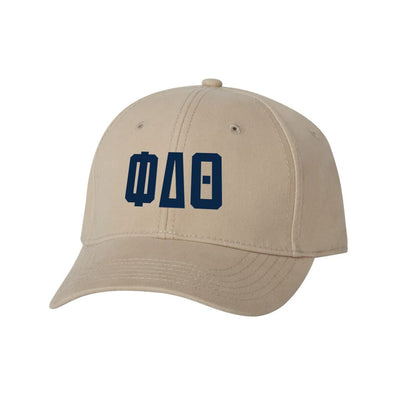 Phi Delt Structured Greek Letter Hat