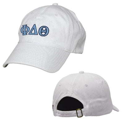 Phi Delt White Greek Letter Adjustable Hat