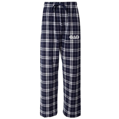 Phi Delt Navy Plaid Flannel Pants
