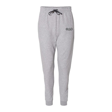 New! Phi Delt Heather Grey Contrast Joggers