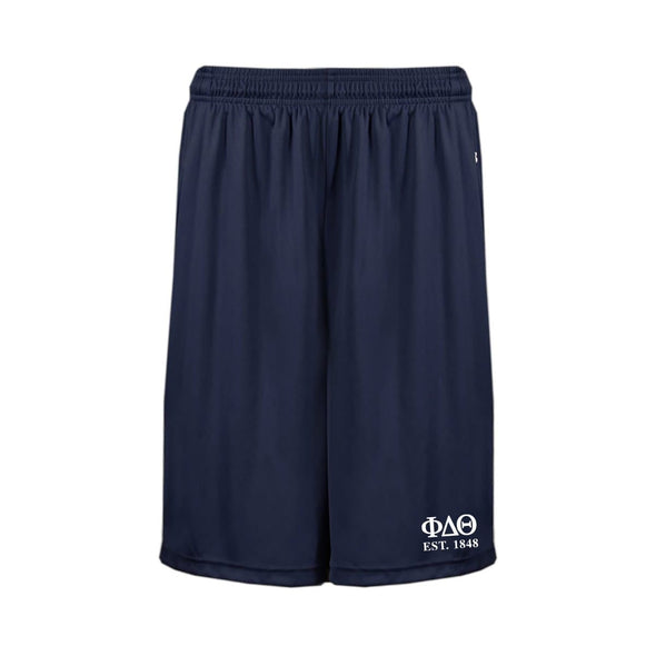 Phi Delt Navy Pocketed Performance Shorts