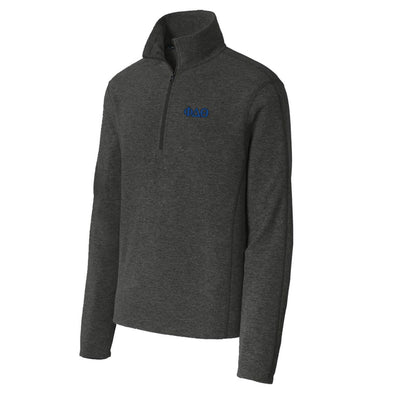 Phi Delt Charcoal 1/4-Zip Microfleece Jacket
