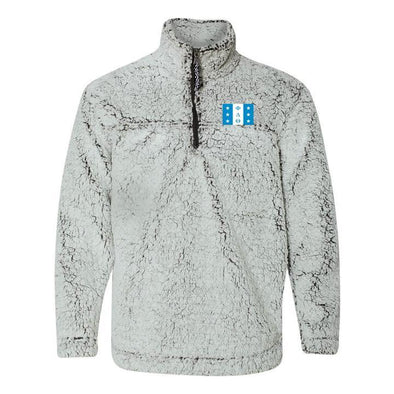 New! Phi Delt Flag Sherpa 1/4 Zip Pullover