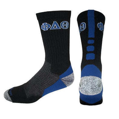 Phi Delta Theta Black & Royal Performance Shooter Socks