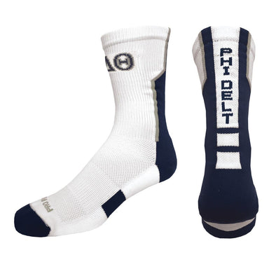 Sale! Phi Delta Theta White Performance Socks