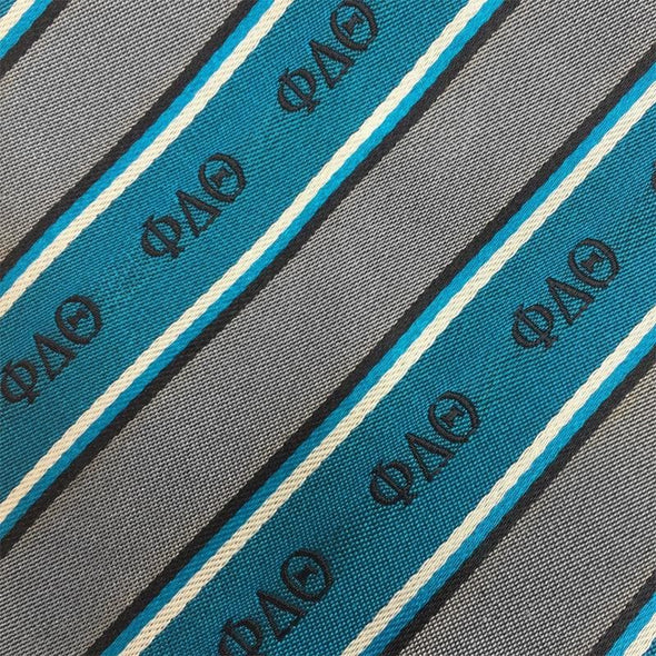 Sale! Phi Delt Blue and Gray Striped Silk Bow Tie