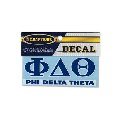 Phi Delt Greek Letter Decal