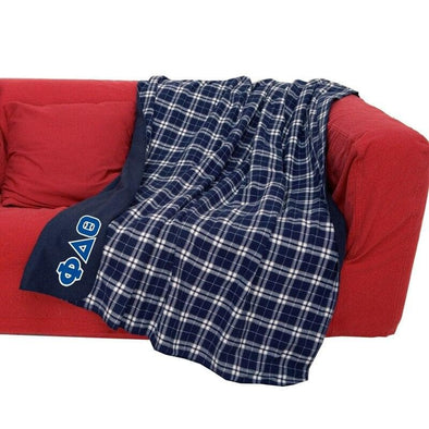 Phi Delt Greek Letter Flannel Blanket