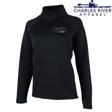 Phi Psi Charles River Mom Black Quarter Zip