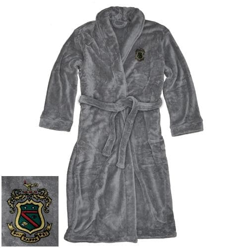 Sale! Phi Psi Charcoal Ultra Soft Robe
