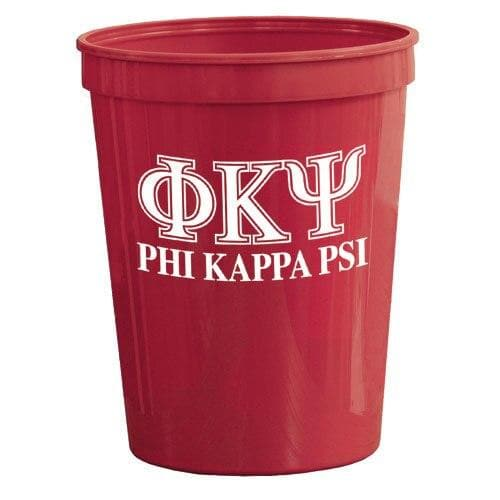 Phi Psi Red Plastic Cup