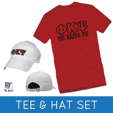 Sale! Phi Psi Tee & Hat Gift Set