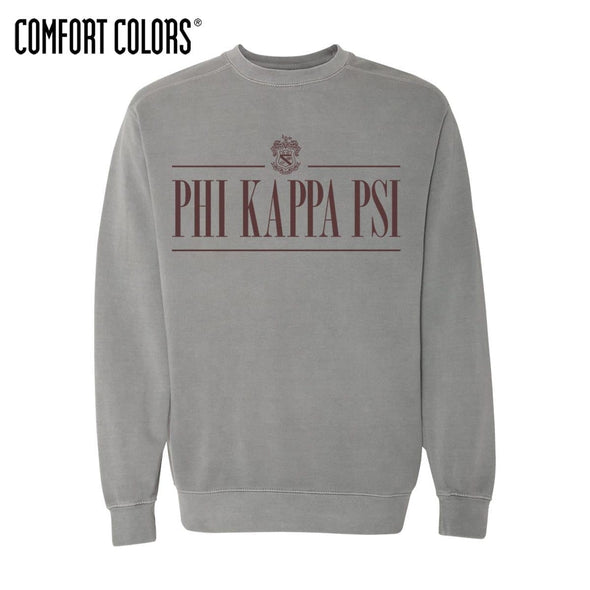 Phi Psi Gray Comfort Colors Crewneck