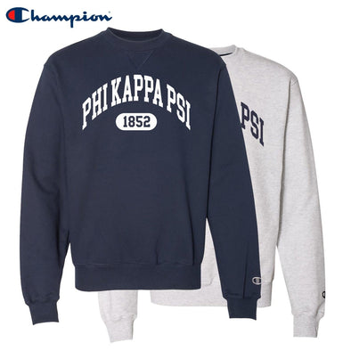 New! Phi Psi Heavyweight Champion Crewneck Sweatshirt