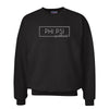 New! Phi Psi Sweetheart Black Crewneck