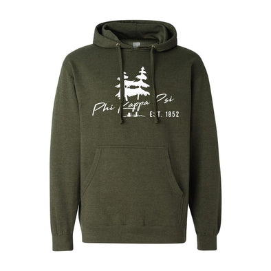 Phi Psi Army Green Wilderness Hoodie