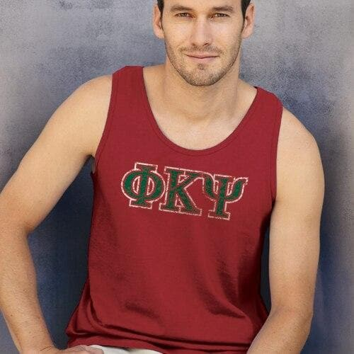 Phi Psi Red Athletic Tank Top