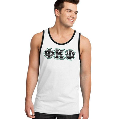 Clearance Priced! Phi Psi White & Black Tank Top