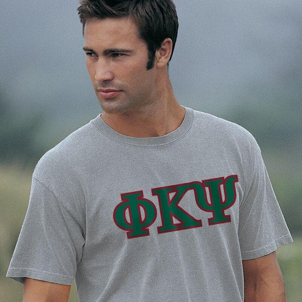 Phi Psi Heather Gray Greek Letter Tee