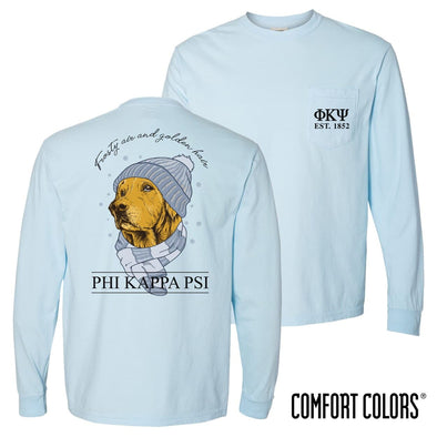 Phi Psi Comfort Colors Winter Retriever Tee