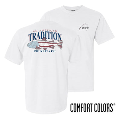 Phi Psi American Trout Comfort Colors Tee