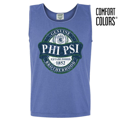 Phi Psi Faded Blue Comfort Colors Tank