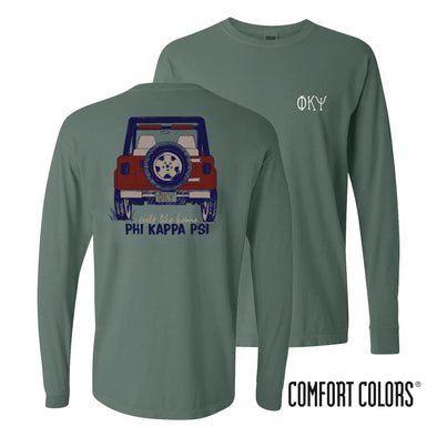 Phi Psi Comfort Colors Jeep Long Sleeve Tee