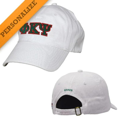 Phi Psi Personalized White Hat