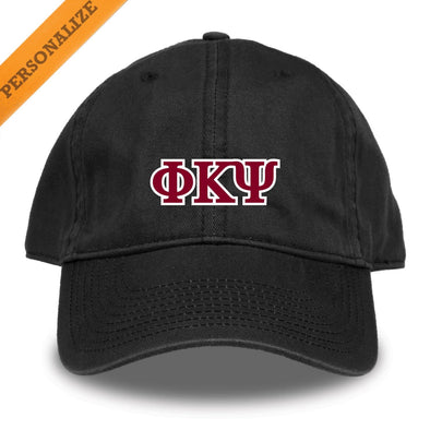 Phi Psi Personalized Black Hat