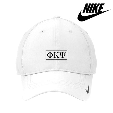Phi Psi White Nike Dri-FIT Performance Hat