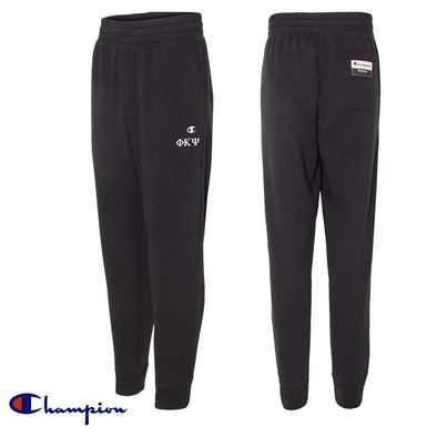 New! Phi Psi Black Champion Joggers