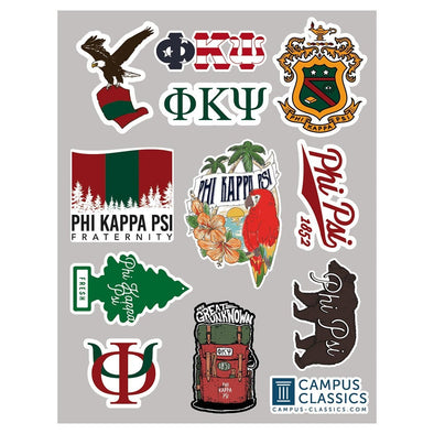 New! Phi Psi Sticker Sheet