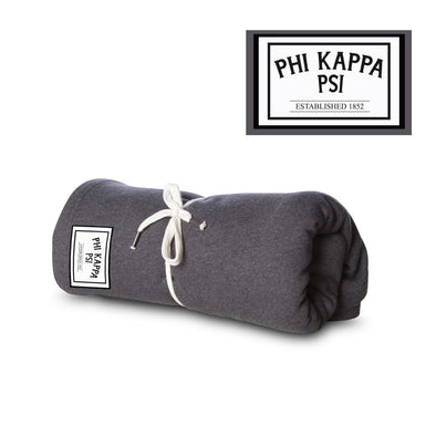 New! Phi Psi Sewn Patch Blanket